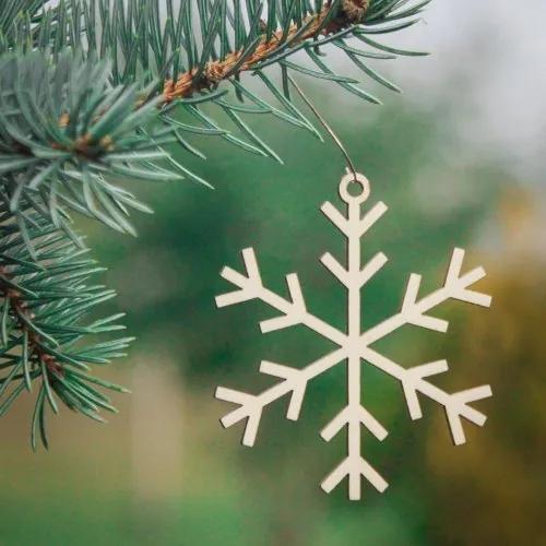 Ozdoba na stromček - snehová vločka 14