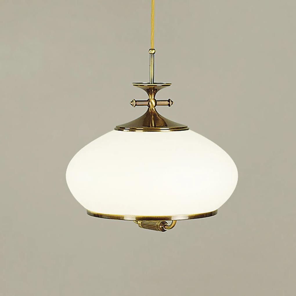 Závesná lampa Empria patina výškovo nastaviteľná