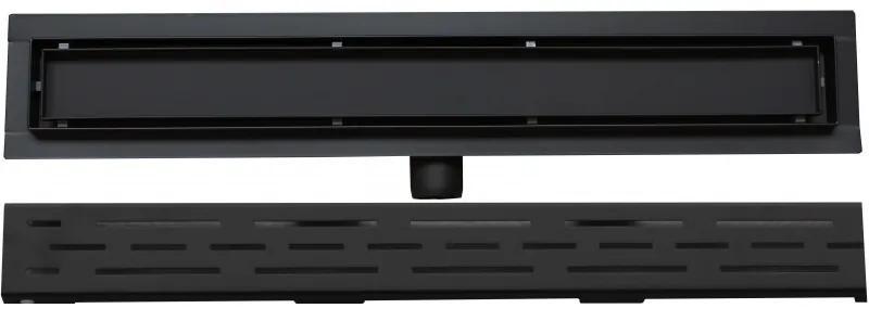 Odtokový žľab nízky MEXEN FLAT BLACK 50 cm - vzor G01