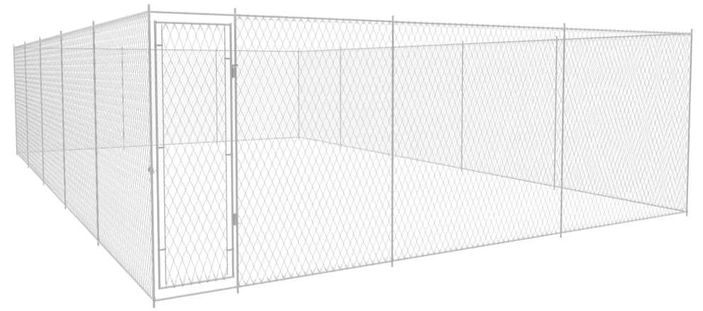vidaXL Vonkajšia voliéra pre psy, pozinkovaná oceľ 950x570x185 cm