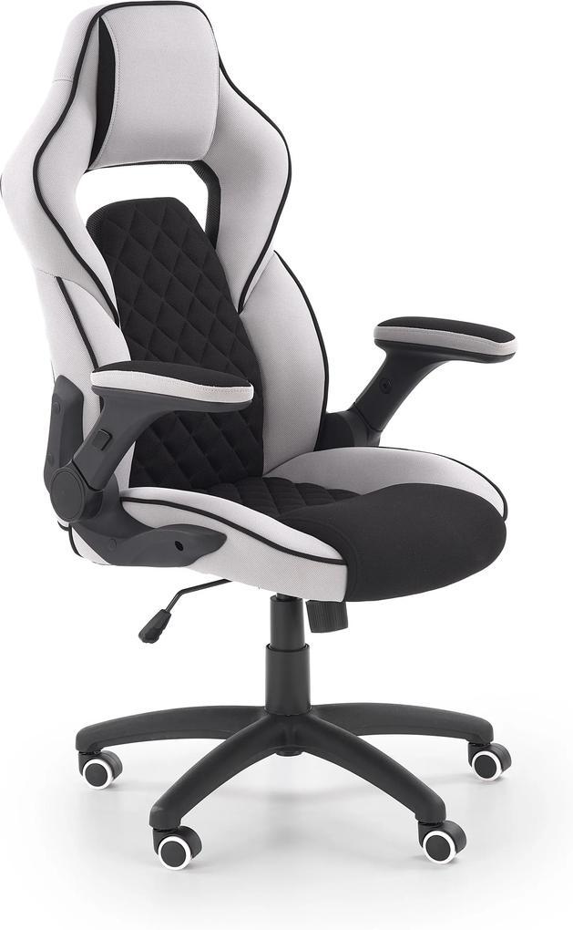 MAXMAX Herný stoličky SONIC čierno / sivá