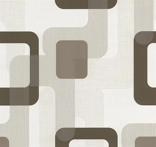 39e58085c10f9 Vliesové tapety na stenu Novara moderné štvorca hnedé | Biano