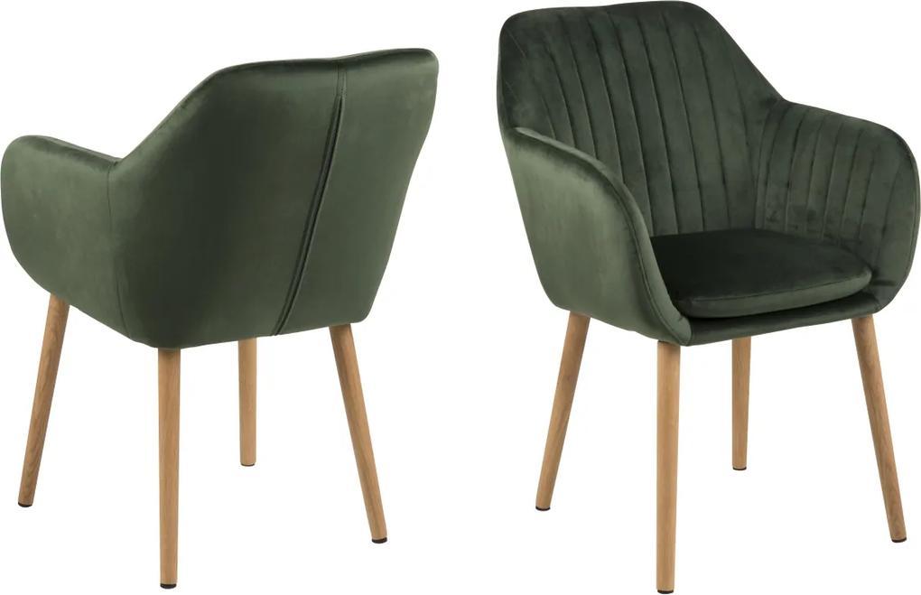 Dizajnová stolička Nashira, lesno zelená VIC