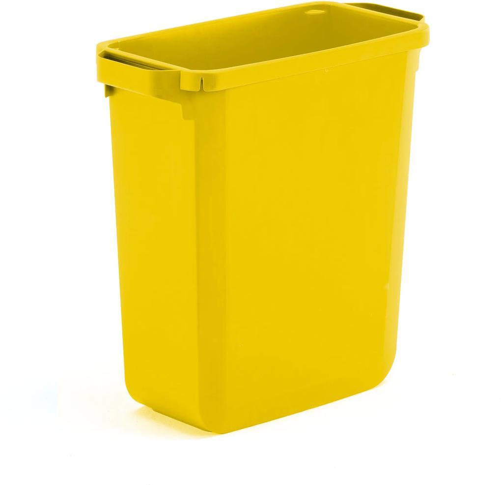 Odpadkový kôš na triedenie odpadu Oliver, objem 60 L, žltý