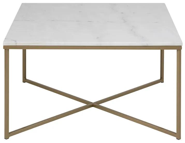Alisma konferenčný stolík 80x80 biela / sivohnedá