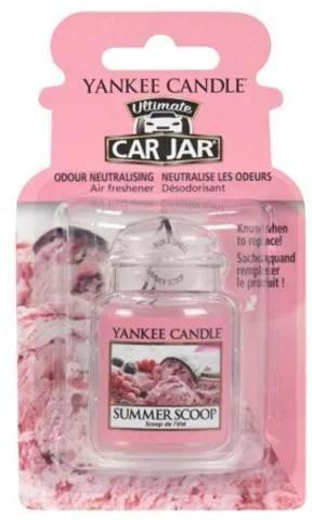 Osviežovač do auta Yankee Candle Kopček letnej zmrzliny, 1x visačka
