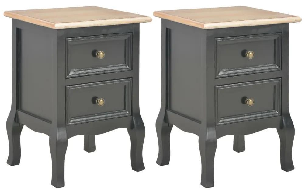 vidaXL Nočný stolík 2 ks, čierny 35x30x49 cm, MDF