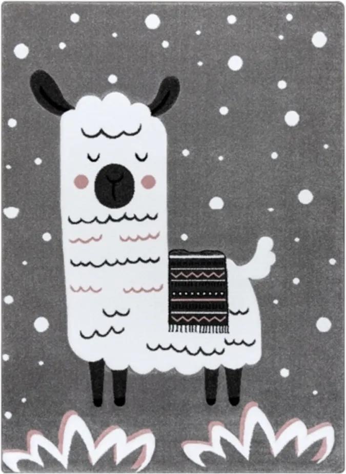 Detský kusový koberec Lama sivý, Velikosti 180x270cm
