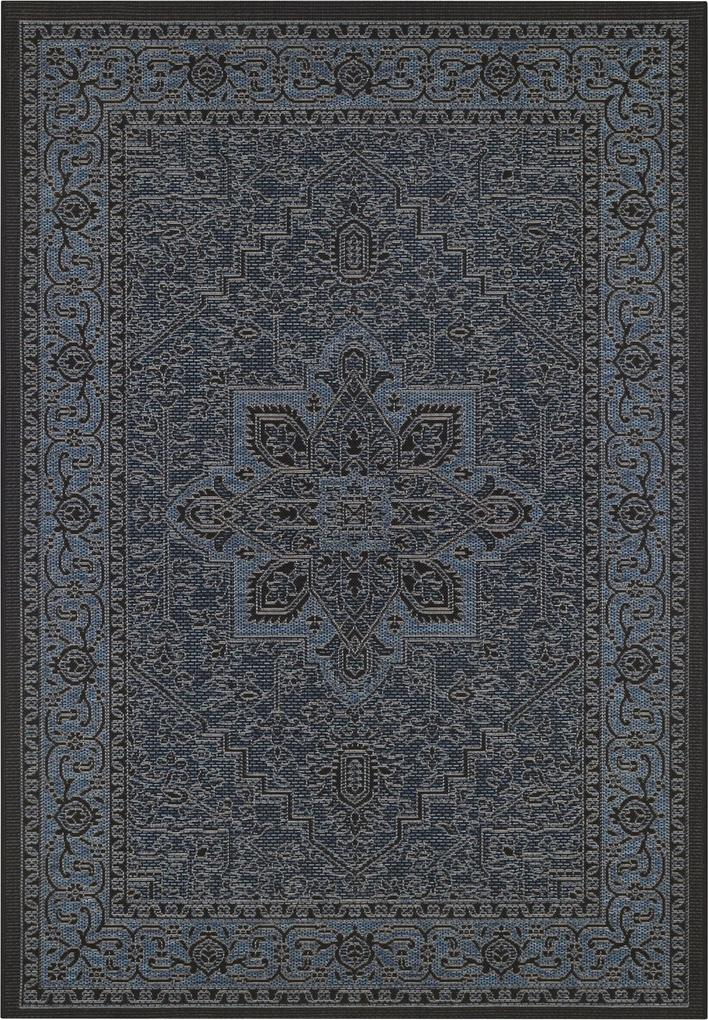 Bougari - Hanse Home koberce Kusový koberec Jaffa 103872 Azurblue/Anthracite - 140x200 cm