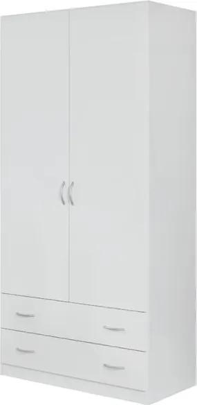 Sconto Šatníková skriňa CASE 3729 biela