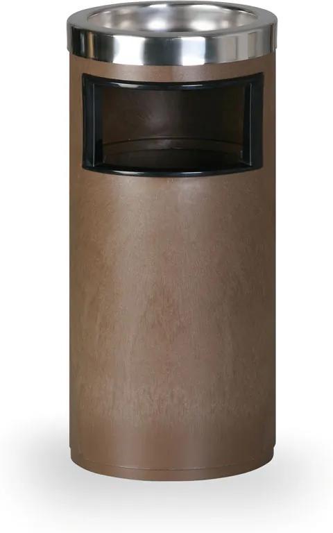 Odpadkový kôš s popolníkom, hnedý