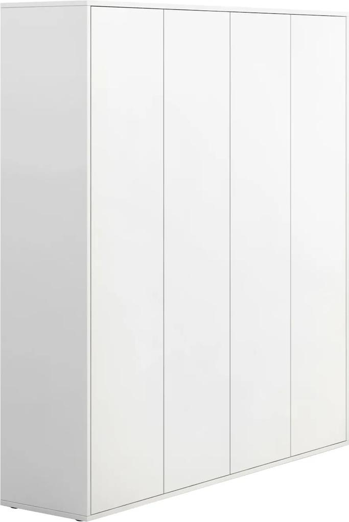 PLAN Skriňa vysoká s dverami BLOCK white