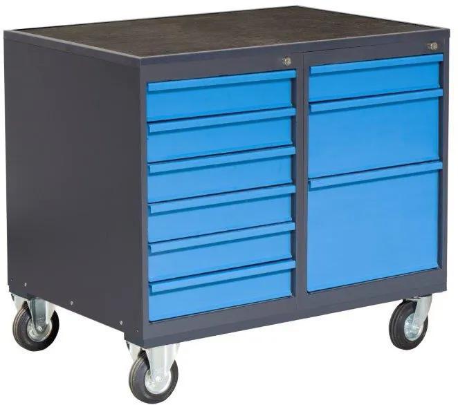 NABBI PLW01G/P3P5 dielenský vozík na kolieskach so zámkom grafit / modrá
