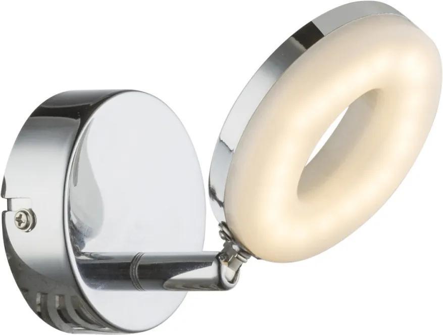 Globo PENELOPE 56121-1 Nástenné Lampy chróm biely 1 x max. 4W 15,5 x 9 x 9 cm