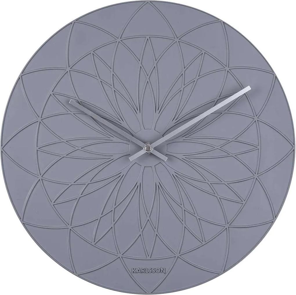 KARLSSON Nástenné hodiny Fairytale šedé - zl'ava 20% (VEMZUDNI20)