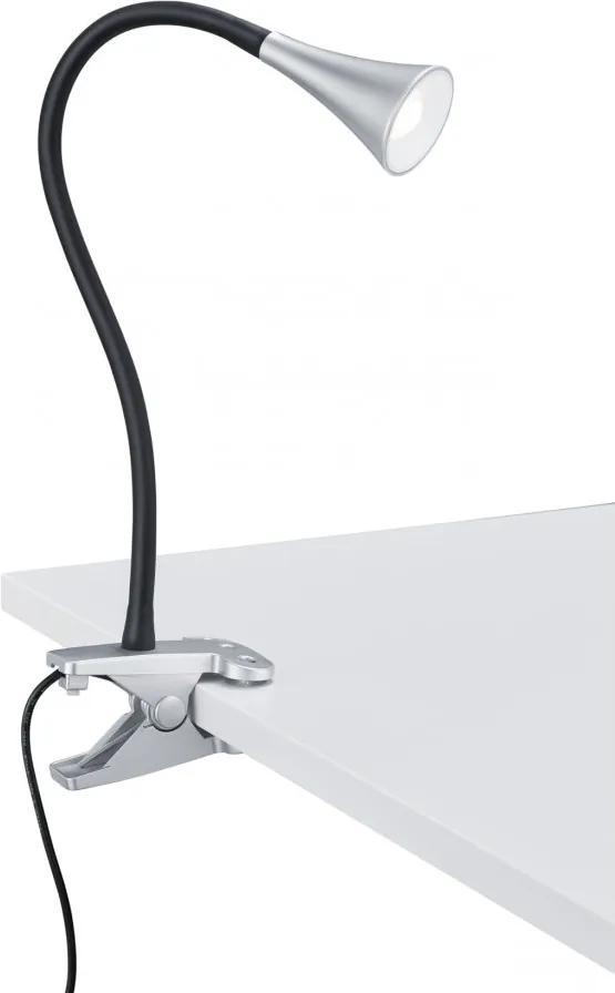 Trio R22398187 Stolné Lampy na Čítanie VIPER titan plast incl. 1 x SMD, 3W, 3000K, 260Lm 300lm 3000K IP20 A++
