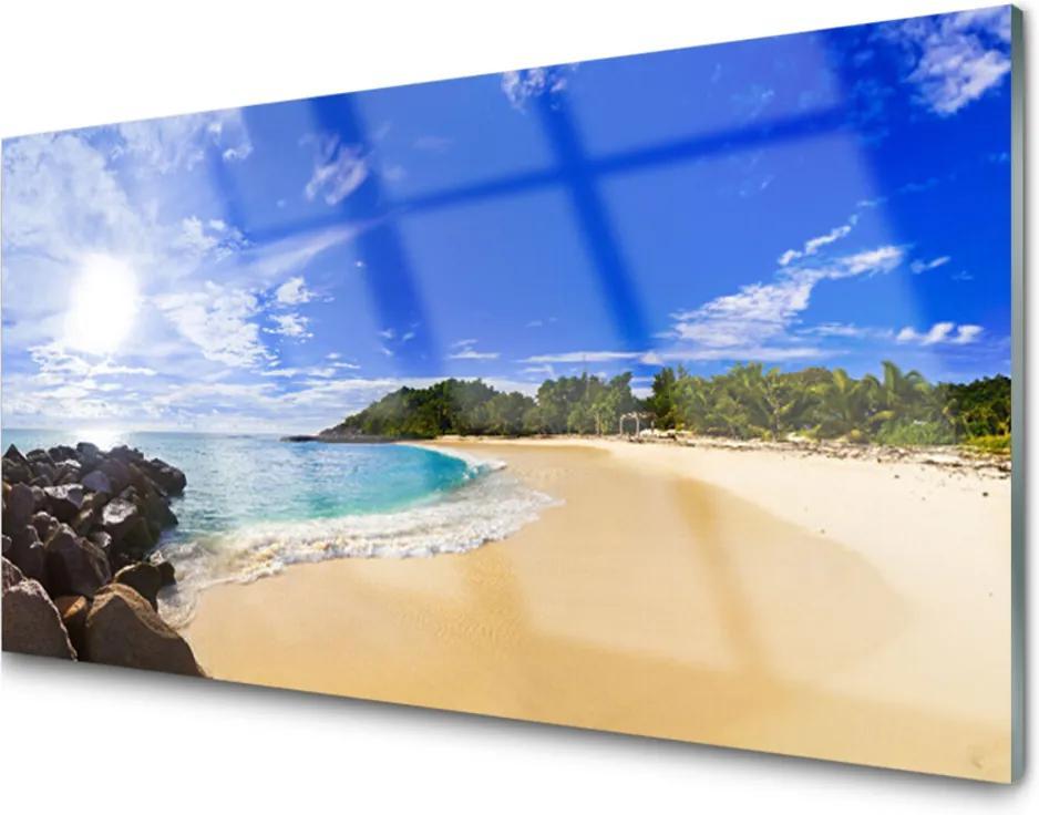 Skleněný obraz Slunce moře pláž krajina