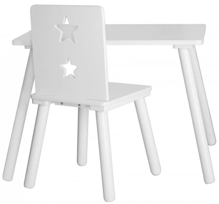lovel.sk Detský dizajnový stolík drevený biely