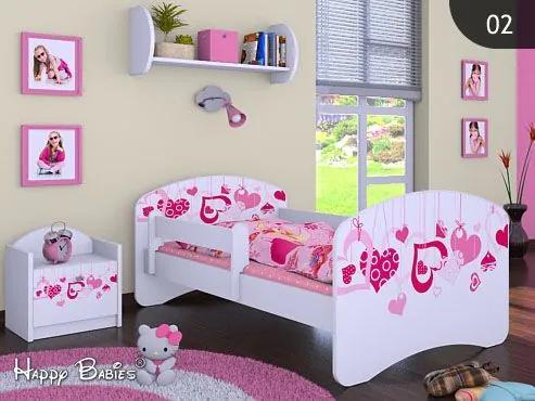 MAXMAX Detská posteľ bez šuplíku 160x80cm FALL IN LOVE