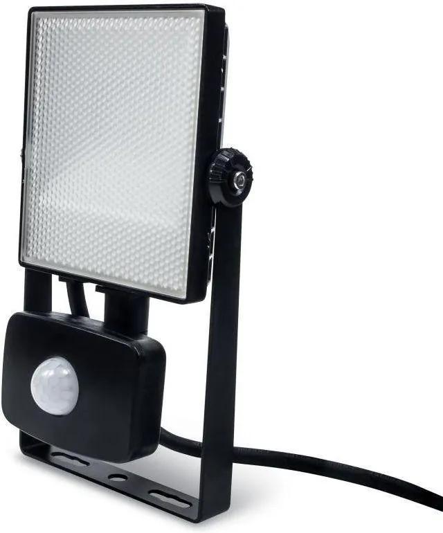 LEDlumen LED reflektor 10W + senzor pohybu, Studená biela