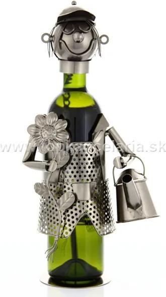Stojan na víno motív záhradník