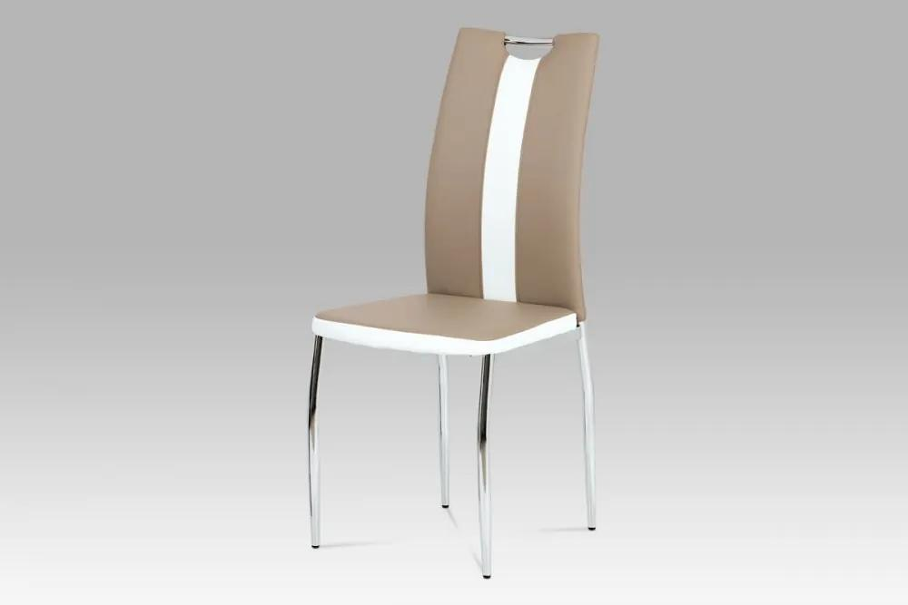 Jedálenská stolička AC-2202 CAP cappuccino / biela Autronic