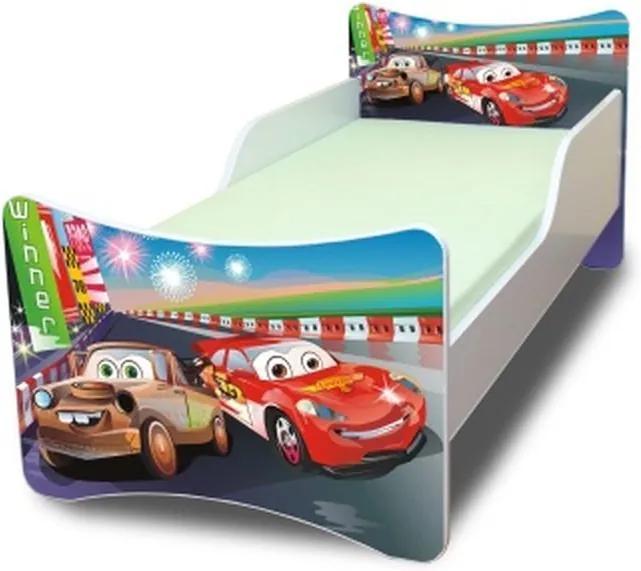 MAXMAX Detská posteľ 180x80 cm - AUTA II. 180x80 pre chlapca NIE