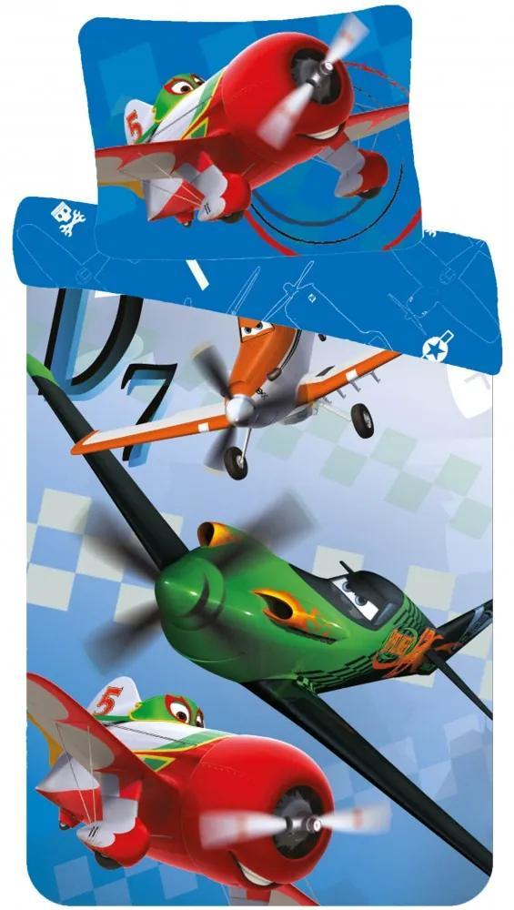 Obliečky do postieľky Disney Planes - Lietadlá 01 90x140 40x55 100% Bavlna Cactus Clone