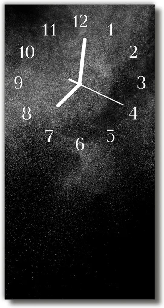 Sklenené hodiny vertikálne  Čierny piesok