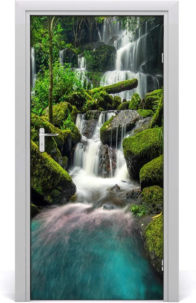 Fototapeta na dveře Vodopád džungle