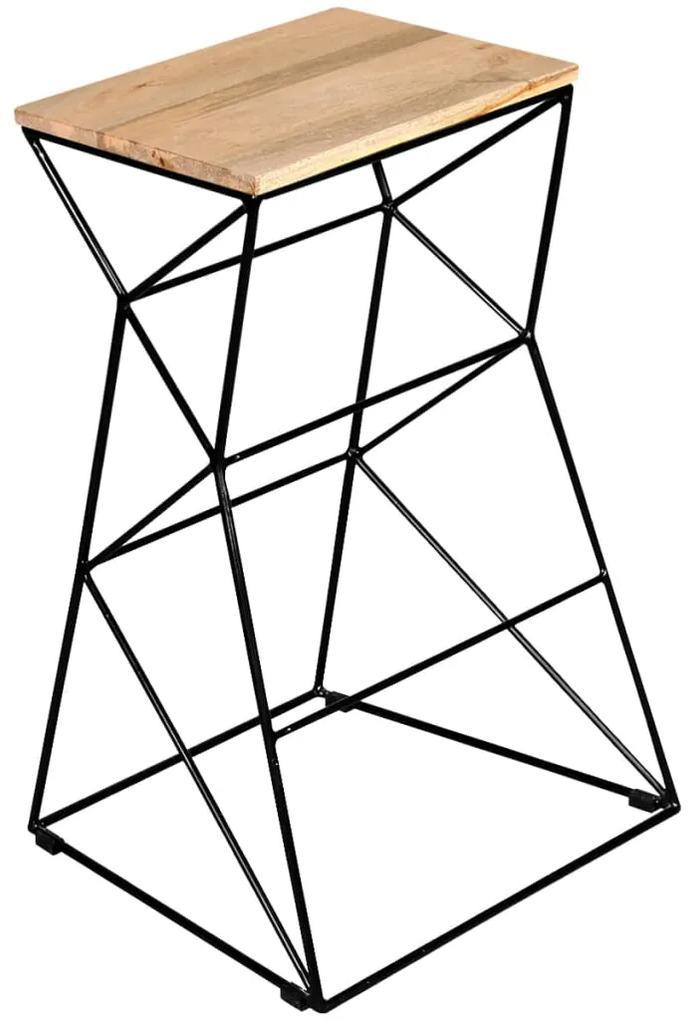 vidaXL Barová stolička, mangový masív