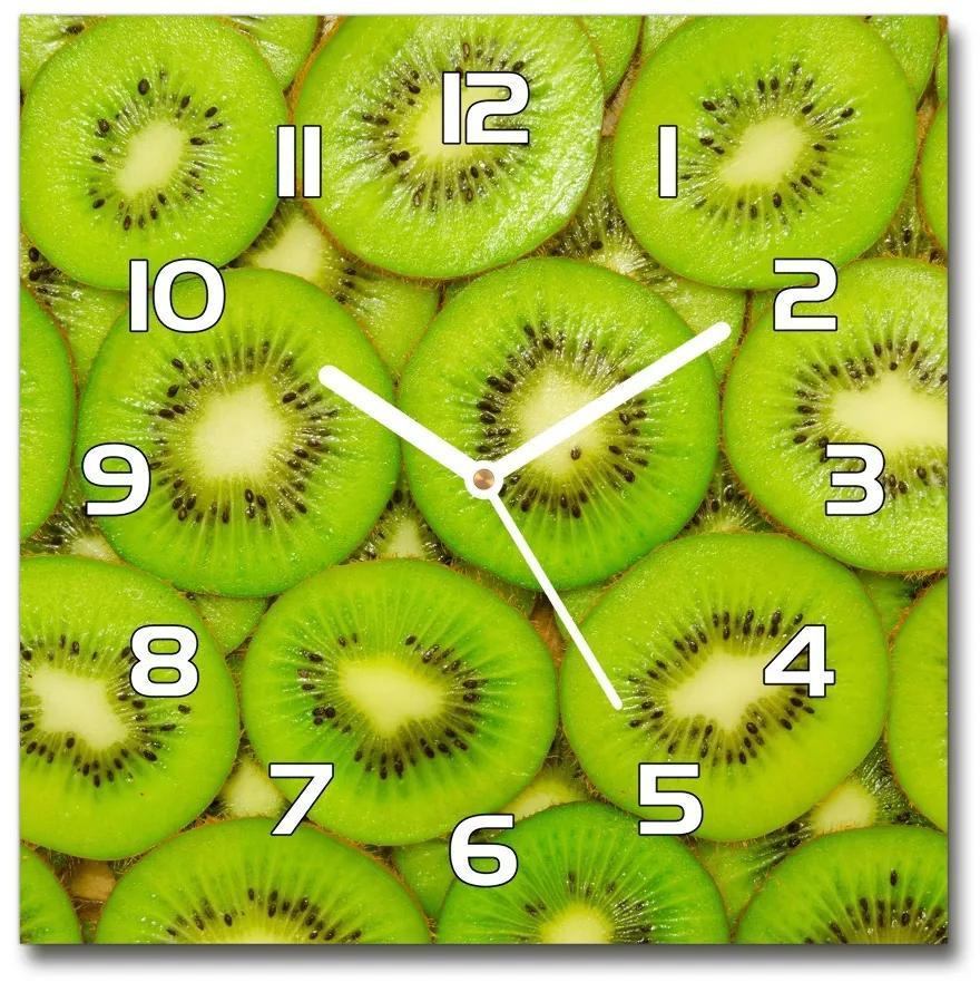 Sklenené nástenné hodiny štvorec Kiwi pl_zsk_30x30_f_73403774