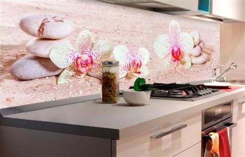 Samolepiace tapety za kuchynskú linku, rozmer 180 cm x 60 cm, ZEN kvetiny, DIMEX KI-180-057