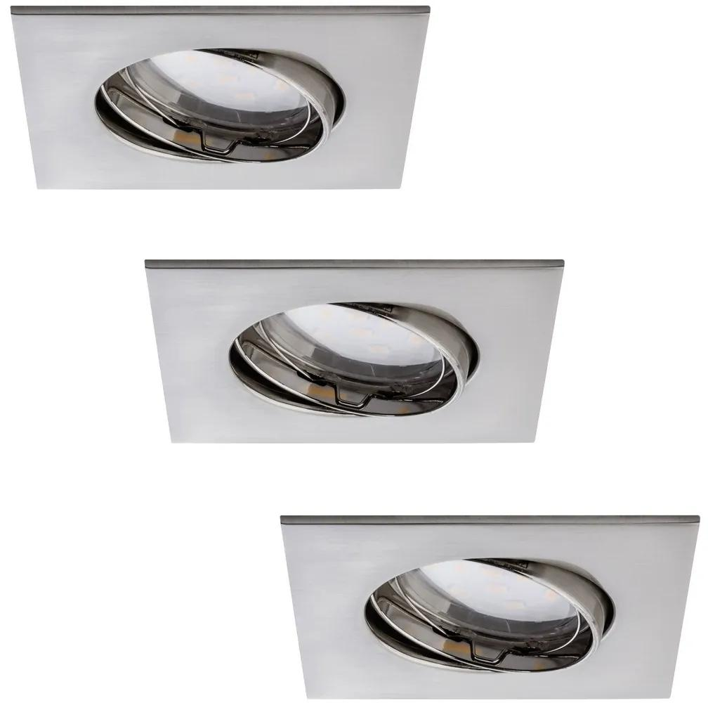 Paulmann Paulmann 92773 - SADA 3x LED Kúpeľňové podhľadové svietidlo COIN 3xLED/6,8W/230V W0658