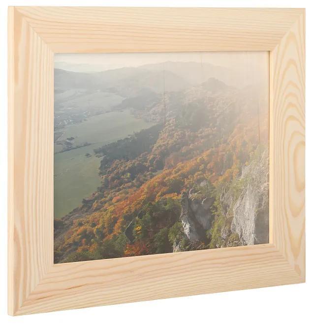 ČistéDrevo Drevený fotorámik na stenu 31 x 25 cm