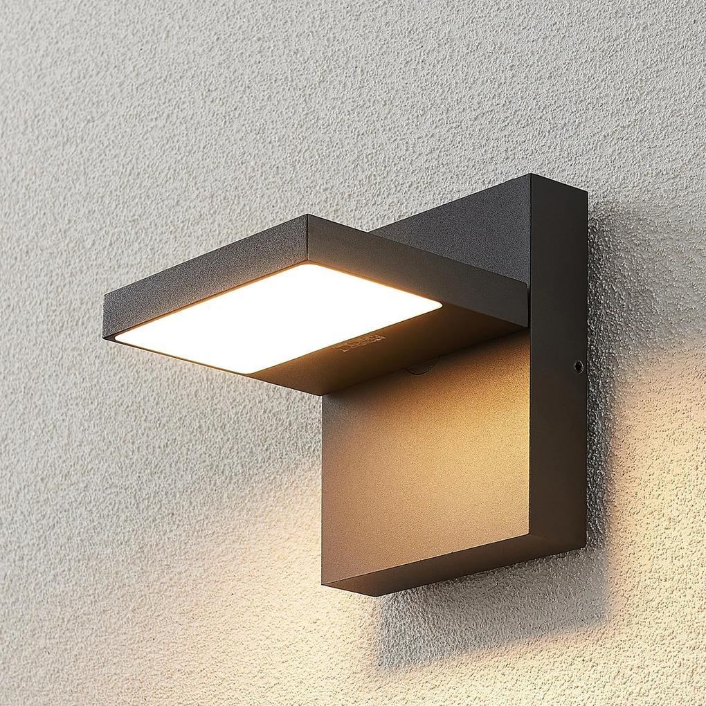 Vonkajšie nástenné LED svietidlo Silvan tmavosivé