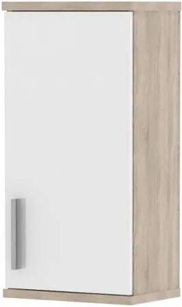 Sconto Závesná skrinka LINDA LI04 dub sonoma/biela pololesk