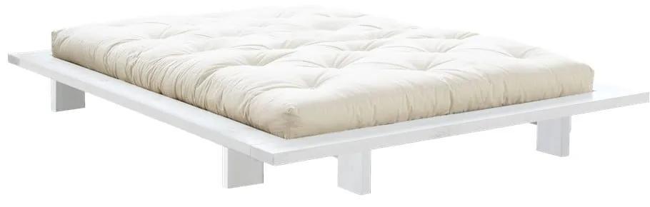 Posteľ z borovicového dreva v japonskom štýle Karup Design Japan White, 140 × 200 cm