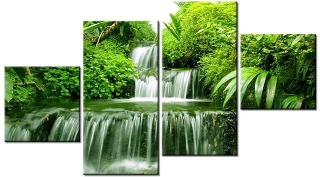 Tlačený obraz Vodopád v dažďovom pralese 160x90cm 2353A_4Q