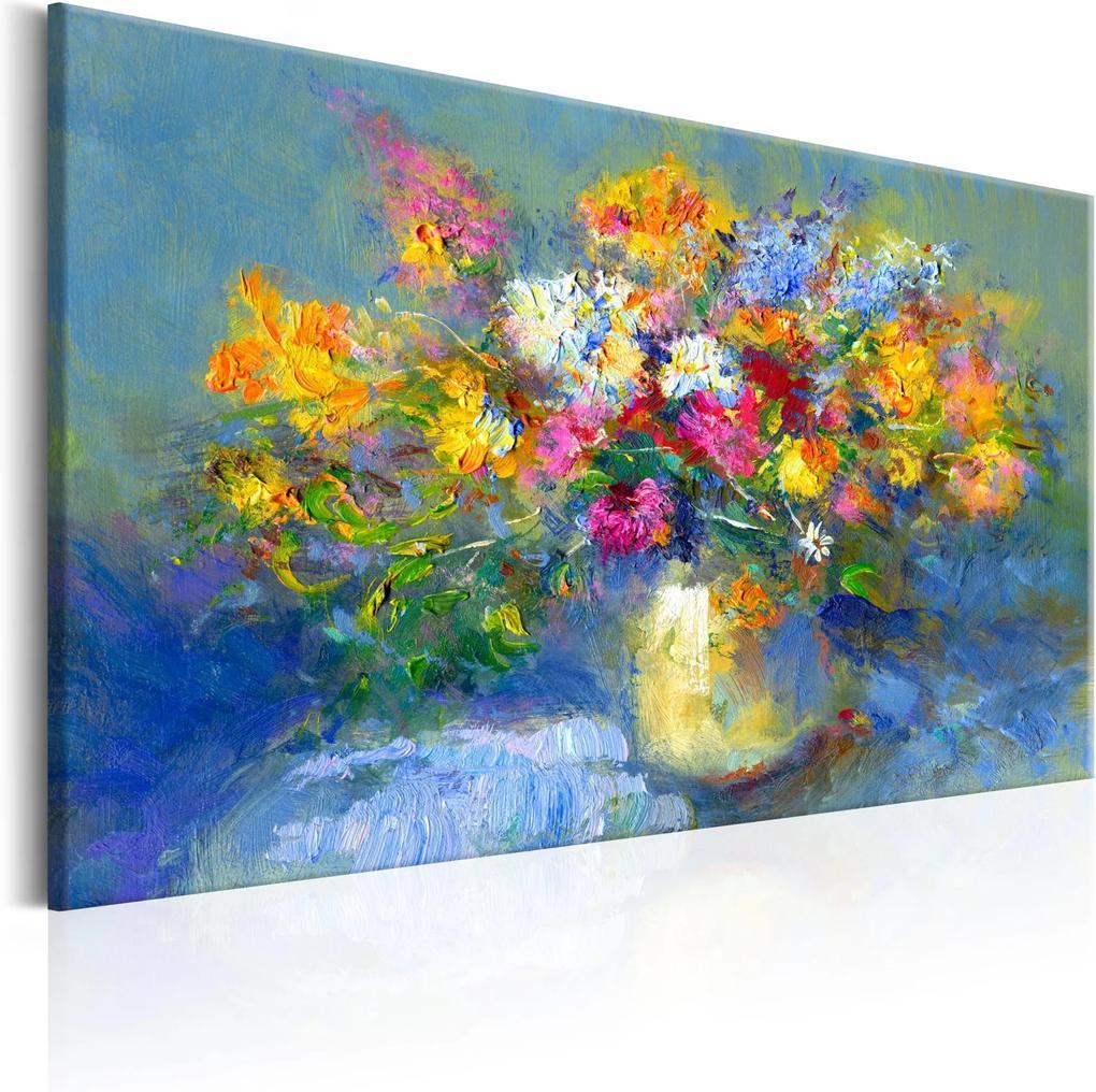 Ručne maľovaný obraz -  Autumn Bouquet 90x60