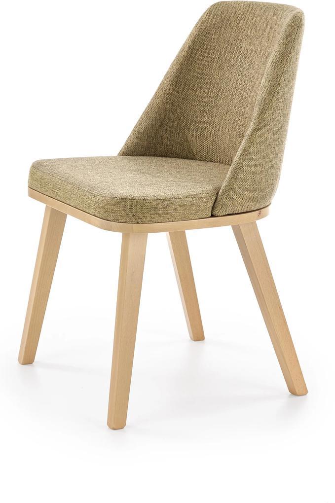 Jedálenská stolička Porto, dub medový / béžová