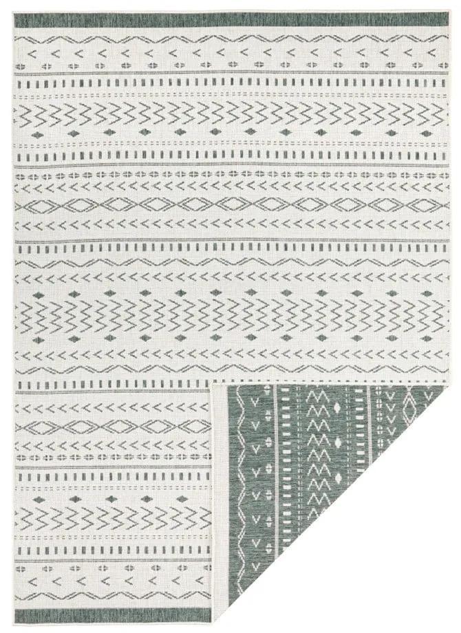 Zeleno-krémový vonkajší koberec Bougari Kuba, 80 x 150 cm