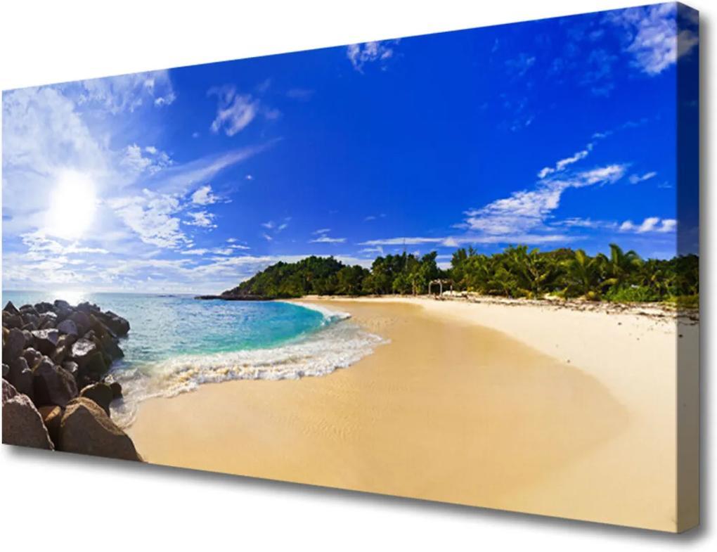 Obraz Canvas Slunce moře pláž krajina