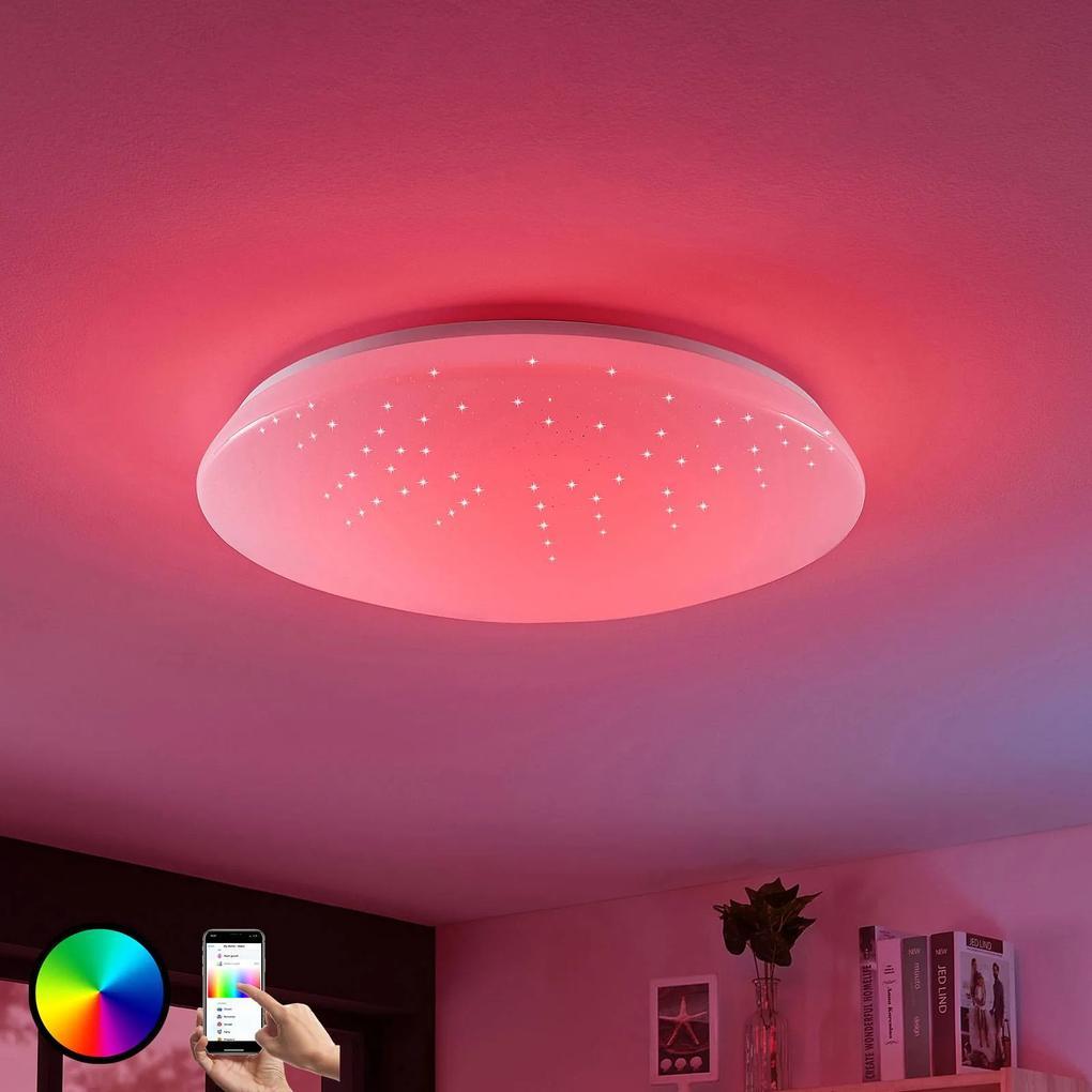 Stropné LED svietidlo Jelka WiZ RGBW okrúhle