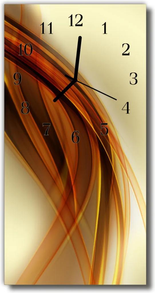 Skleněné hodiny vertikální Umělecký grafický vzor béžový