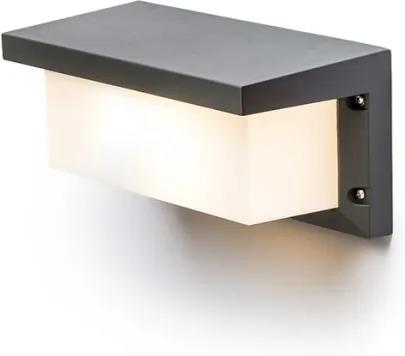 HIDE RC   nástenná antracitová lampa IP54