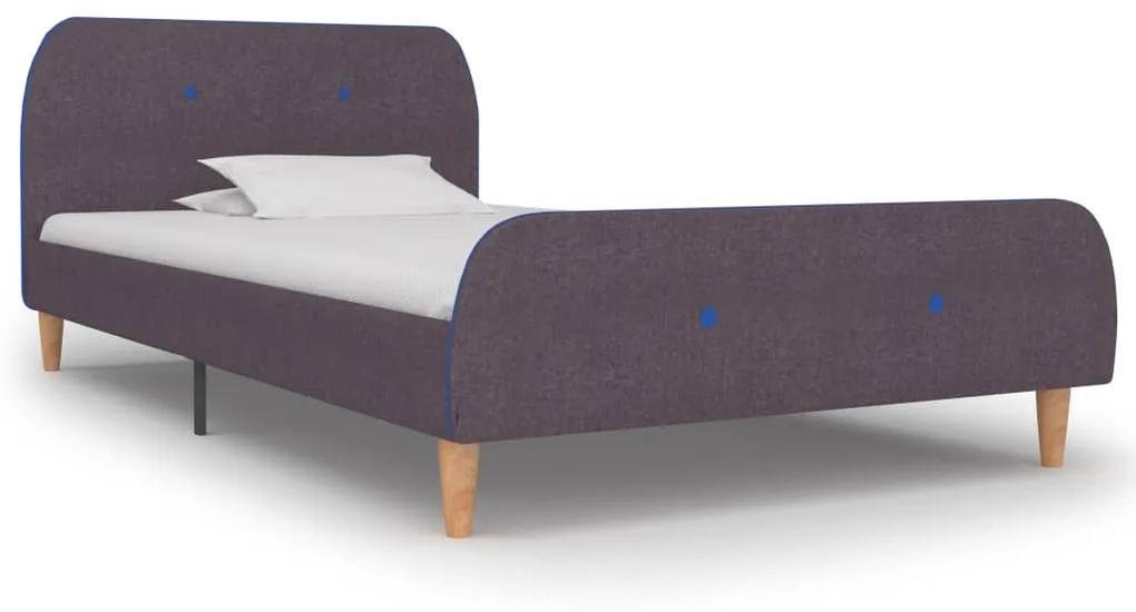 vidaXL Rám postele sivohnedý 90x200 cm látkový