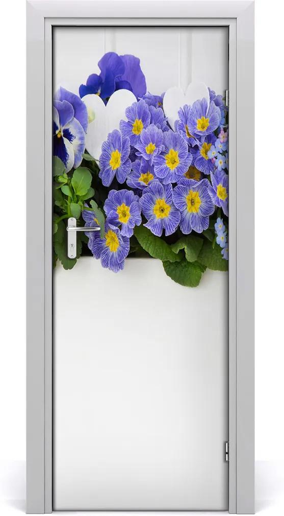 Fototapeta samolepící Fialové květy