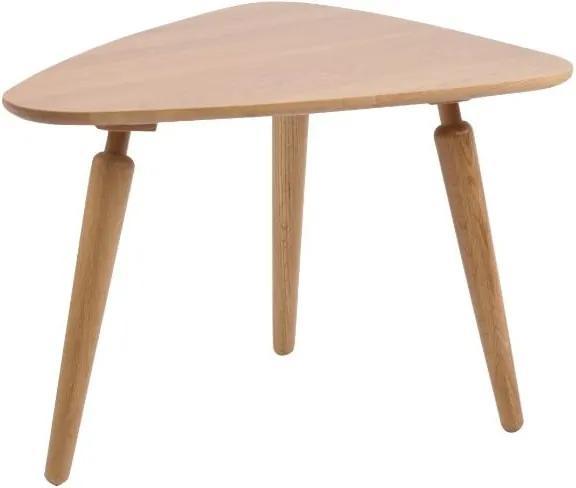 Prírodný konferenčný stolík z dubového dreva Folke Cappuccino 6b2a0118904