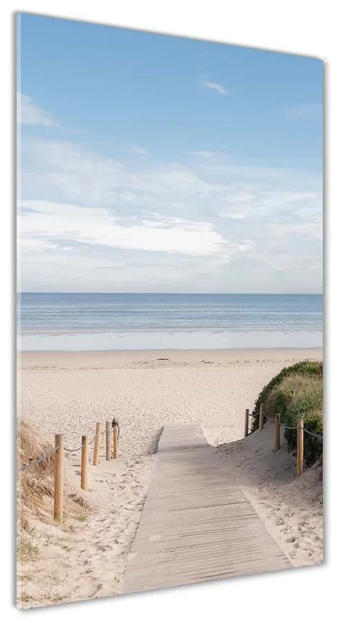 Foto obraz akrylové sklo Chodník na pláž pl-oa-70x140-f-74072436